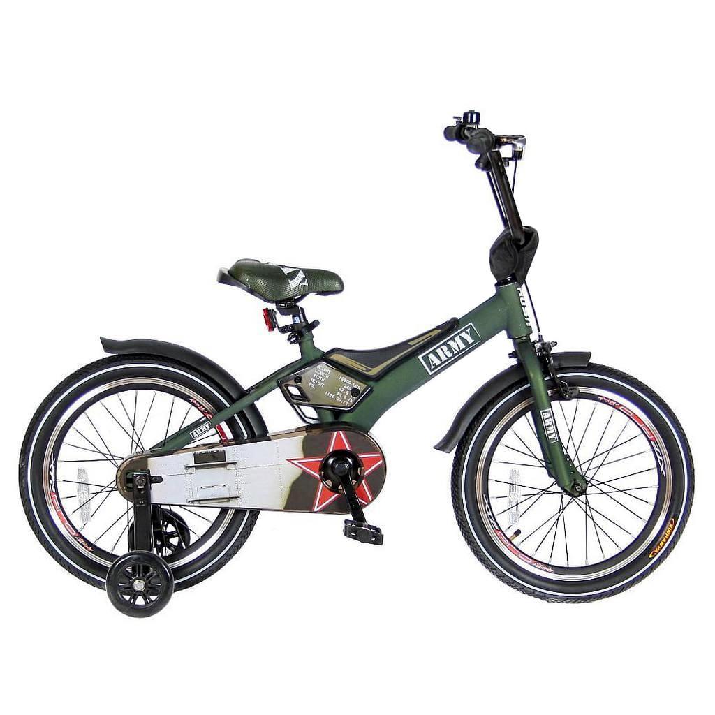 Детский велосипед Velolider Rush Army - 18 дюймов (хаки)