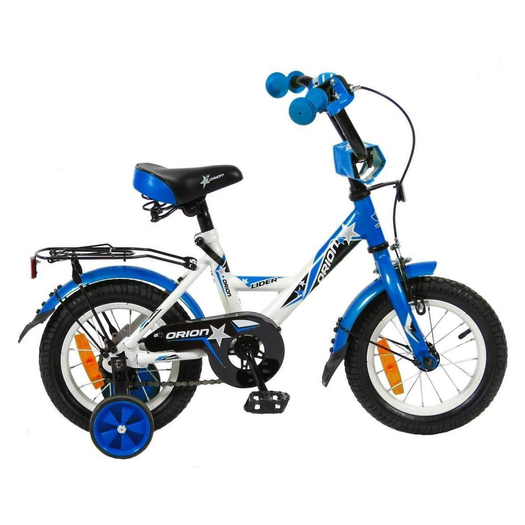Детский велосипед VELOLIDER Orion - 12 дюймов (бело-синий)
