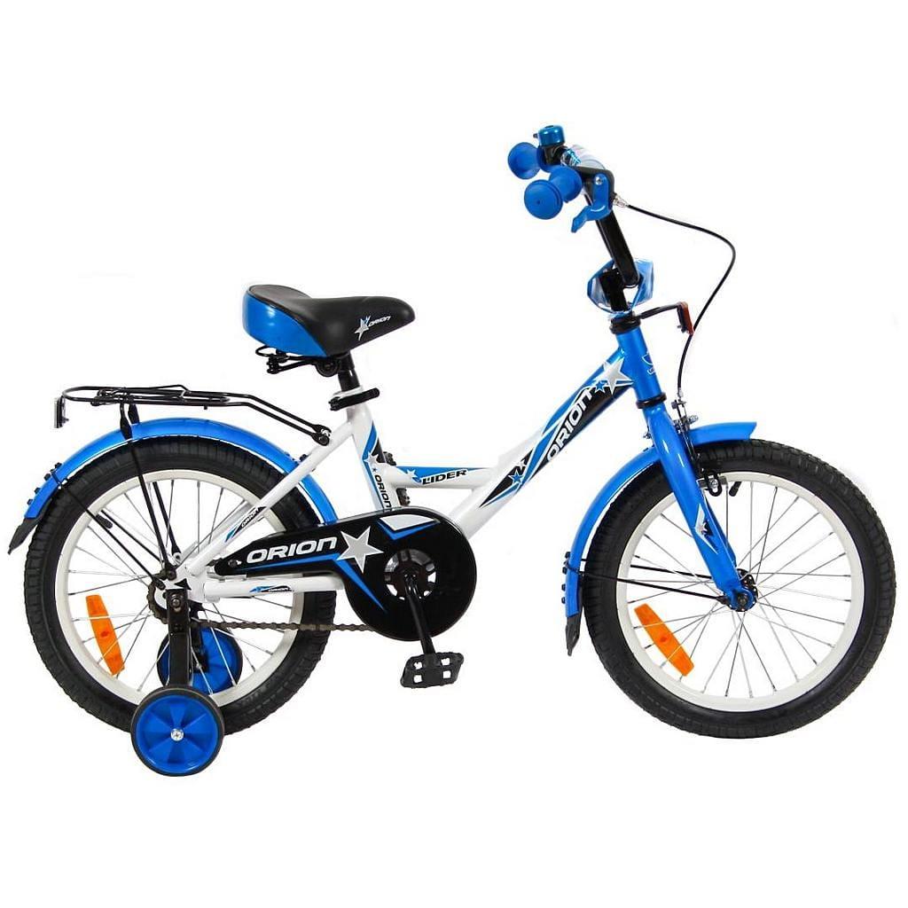 Детский велосипед Velolider 5522 Orion - 16 дюймов (бело-синий)
