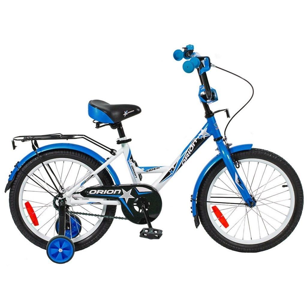 Детский велосипед Velolider Orion - 18 дюймов (бело-синий)