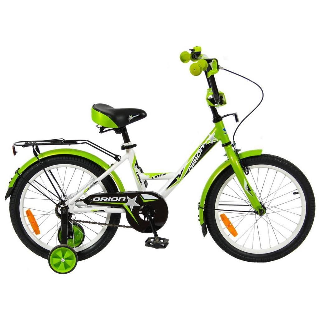 Детский велосипед Velolider 5534 Orion - 18 дюймов (бело-зеленый)