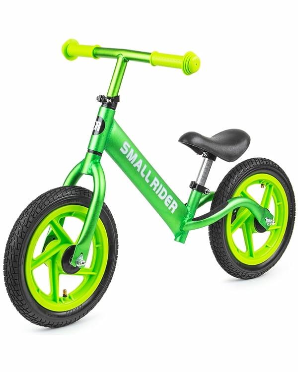 Детский беговел Small Rider 377534 Foot Racer Air с надувными колесами - зеленый металлик