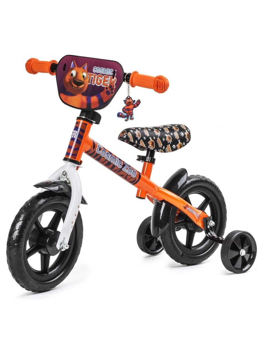 Обучающий беговел для малышей Cosmic Zoo 472734 Ballance Космический зоопарк - оранжевый (тигренок)