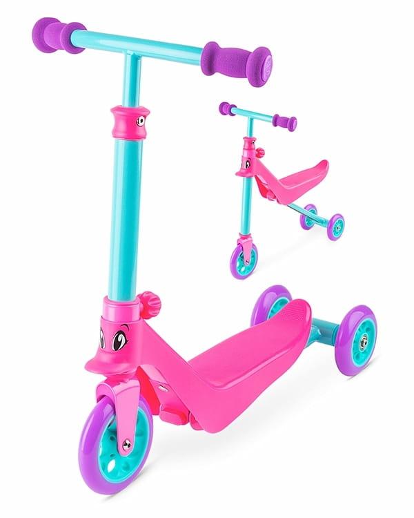 Беговел-самокат для малышей Zycom 1149202 Zykster 2 в 1 - розово-фиолетовый