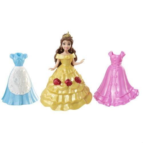 Подарочный набор в сумочке с мини-куклой Disney Princess - Белль и 2 наряда (Mattel)