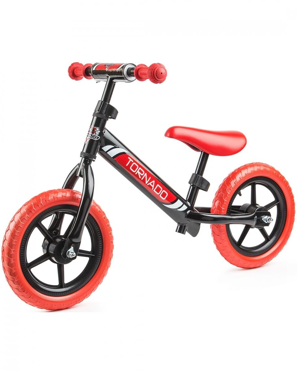 Детский беговел Small Rider 1244231 Tornado с цветными покрышками - черно-красный