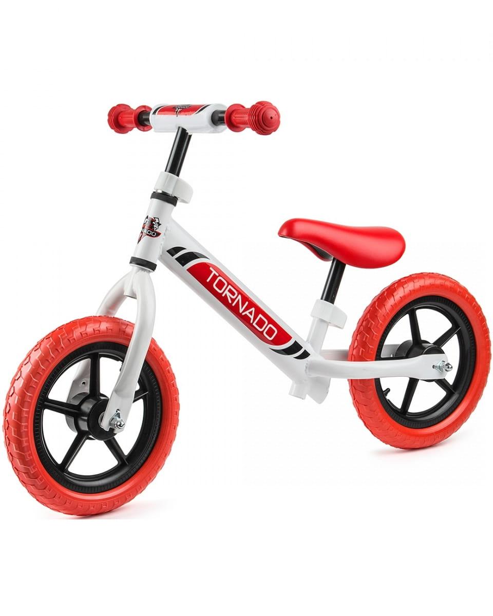 Детский беговел Small Rider 1244231 Tornado с цветными покрышками - бело-красный
