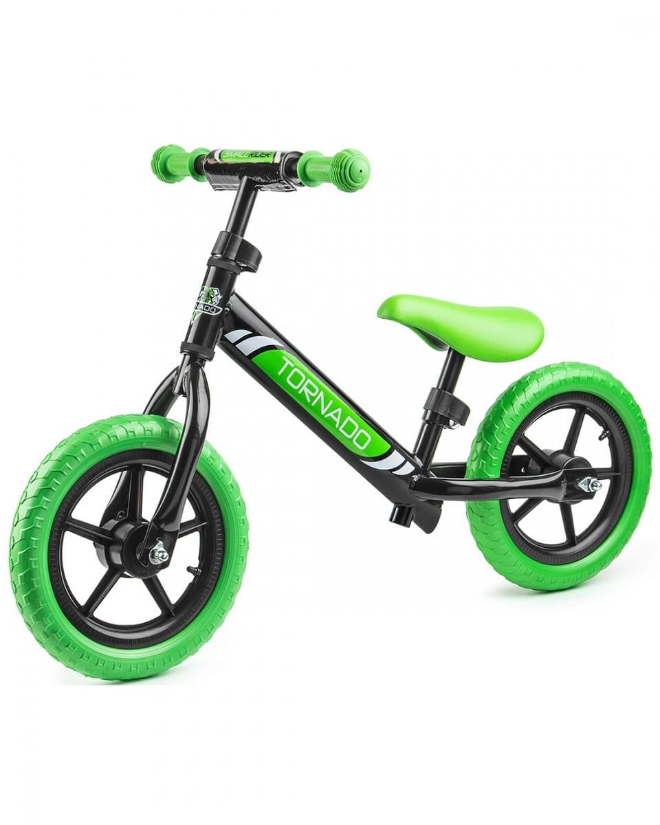 Детский беговел Small Rider 1244231 Tornado с цветными покрышками - чрно-зеленый