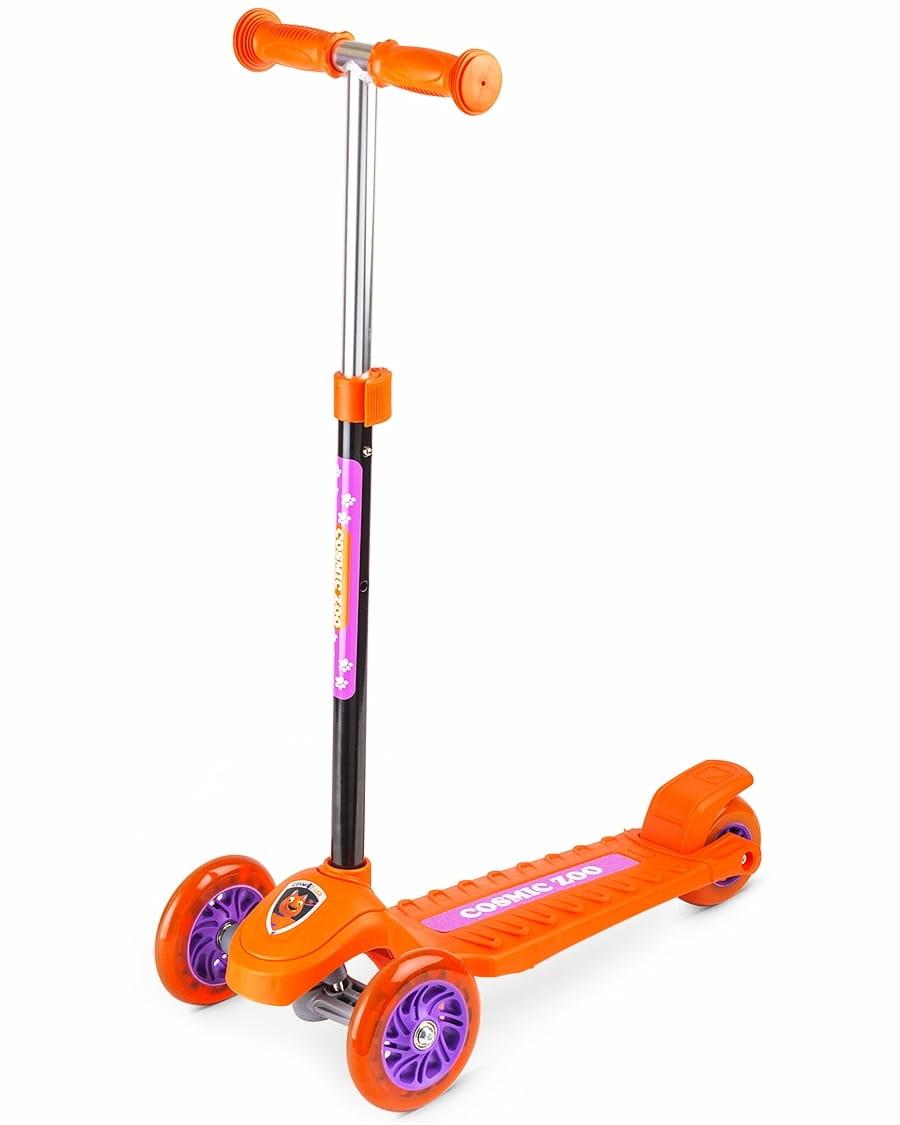 Самокат Cosmic Zoo 1150360 Galaxy One - оранжевый (светящиеся колеса)