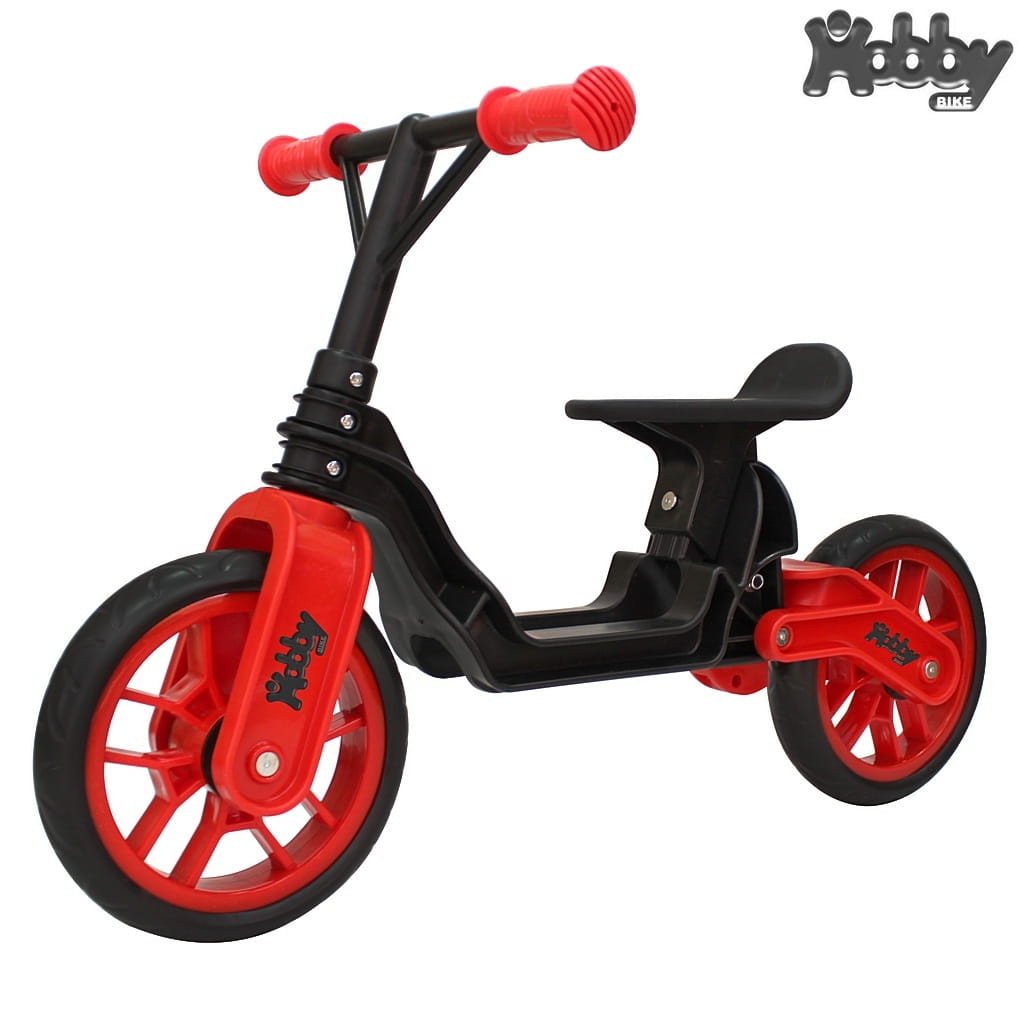 Беговел RT 6640 Hobby bike Magestic - black-red