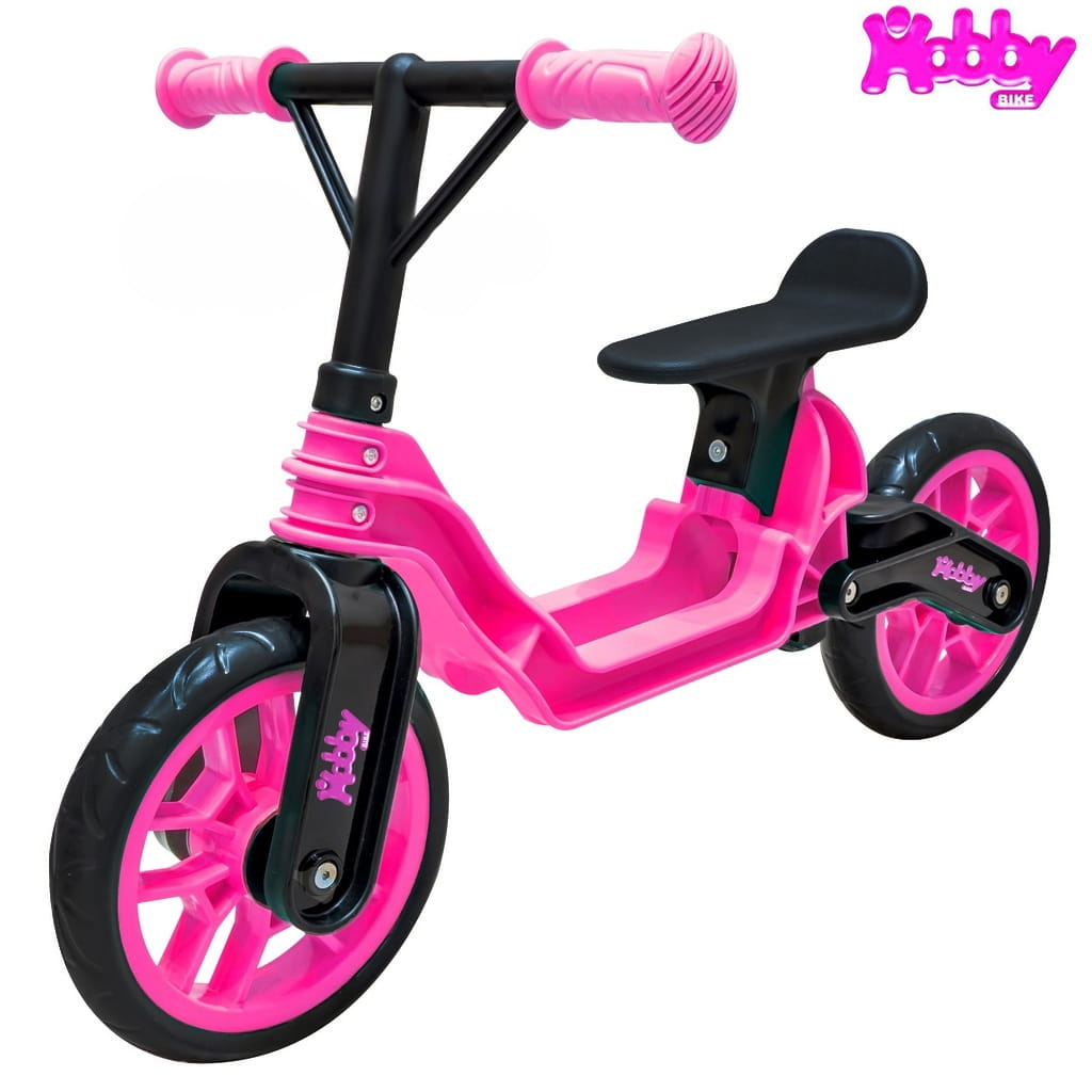 Беговел RT 6638 Hobby bike Magestic - pink-black