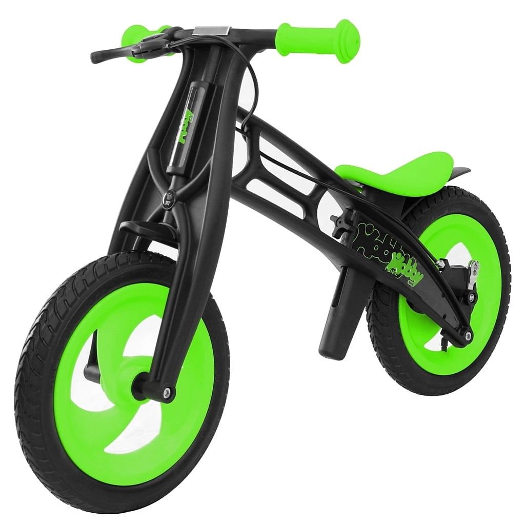 Велобалансир-беговел RT 5363 Hobby bike Fly Черная оса - kiwi-black (шины волна)