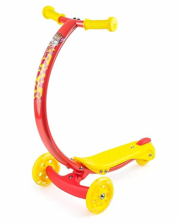 Самокат с изогнутой ручкой Zycom 1149159 Zipster - красно-желтый