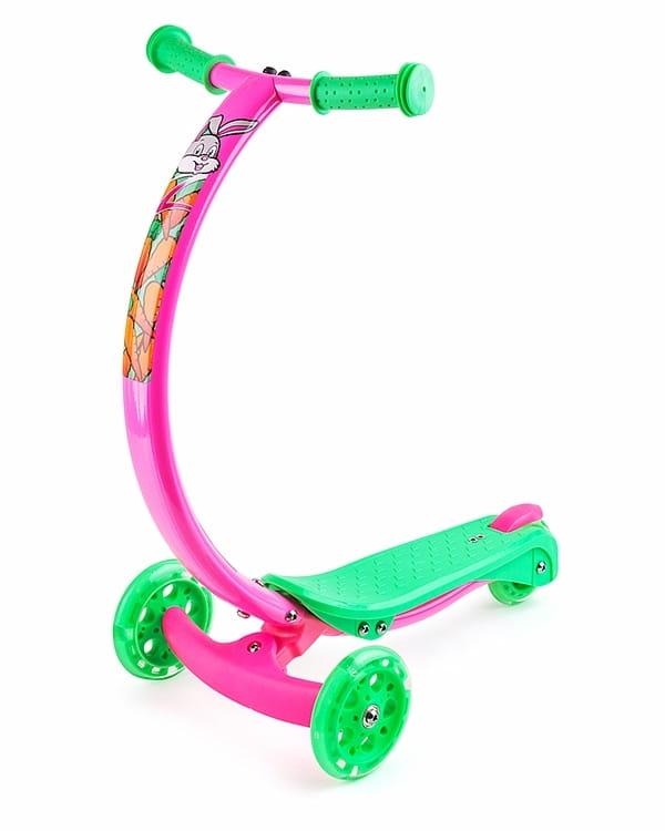 Самокат с изогнутой ручкой Zycom 1149169 Zipster - зелено-розовый