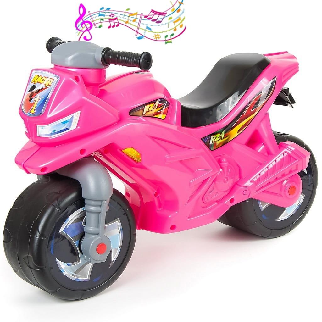 Беговел-каталка RT 6407 Racer RZ 1 - розовый (с музыкой)