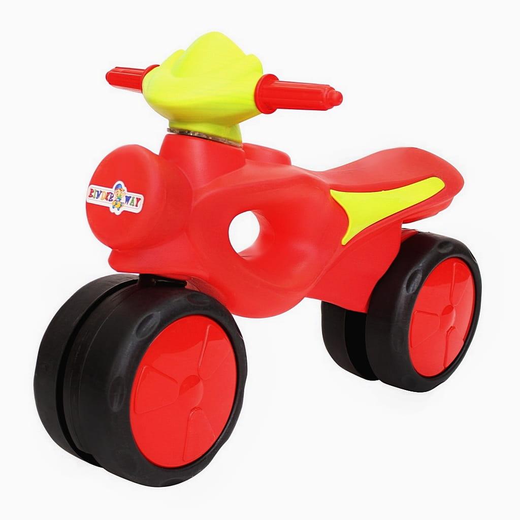 Велобег RT 6431 Kinder way - красно-салатовый