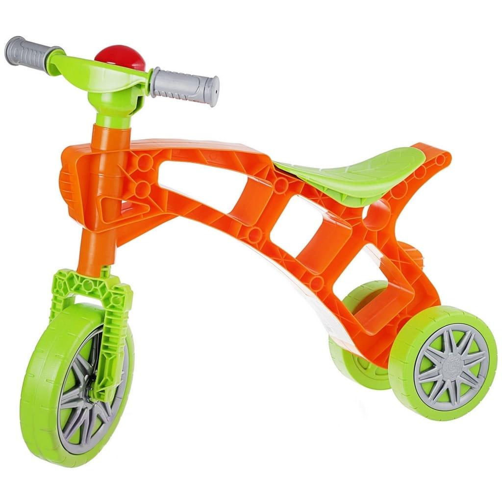 Каталка RT 5569 Самоделкин - зелено-оранжевая (3 колеса)
