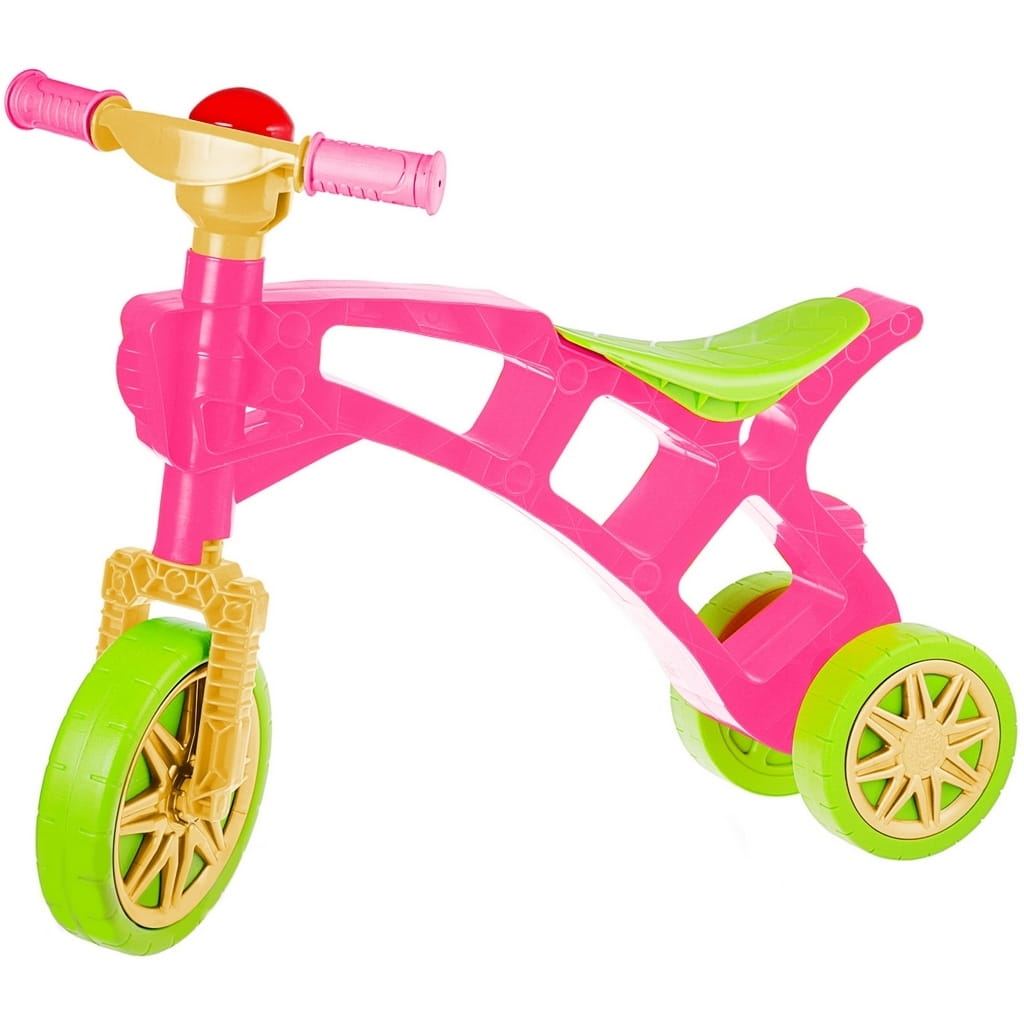 Каталка RT 5568 Самоделкин - зелено-розовая (3 колеса)