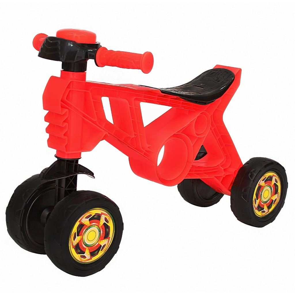 Каталка RT 6405 Самоделкин - красная (4 колеса)