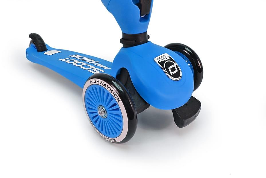 Самокат Y-SCOO Globber Primo Plus Dark Blue со светящимися колесами