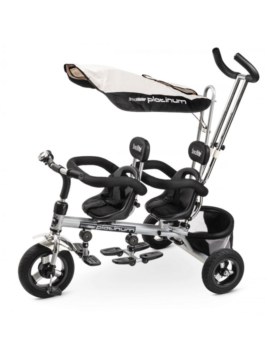 Детский трехколесный велосипед для двойни Small Rider 356208 Platinum ALT - платина