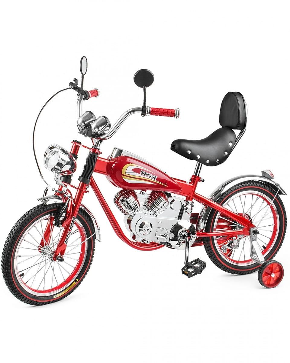 Детский коллекционный велосипед-мотоцикл SMALL RIDER Motobike Vintage - красный