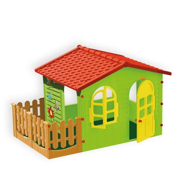 Большой игровой домик MOCHTOYS с забором