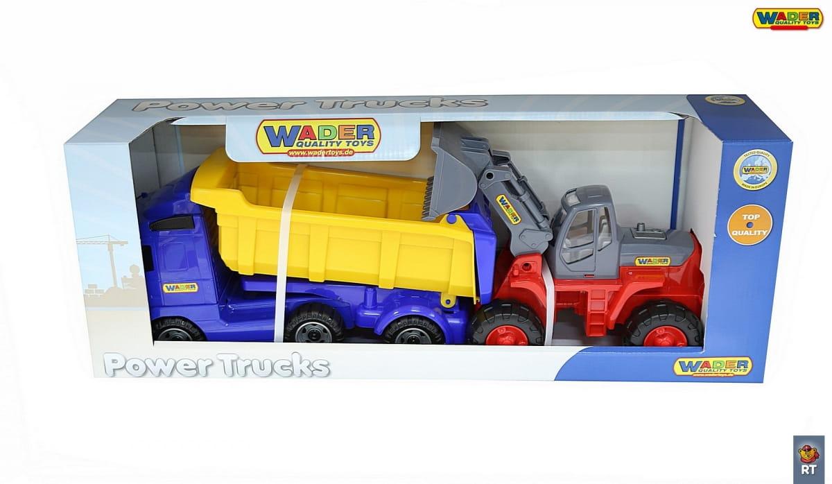 Игровой набор Wader 4648 Автомобиль-самосвал с трактороом-погрузчиком