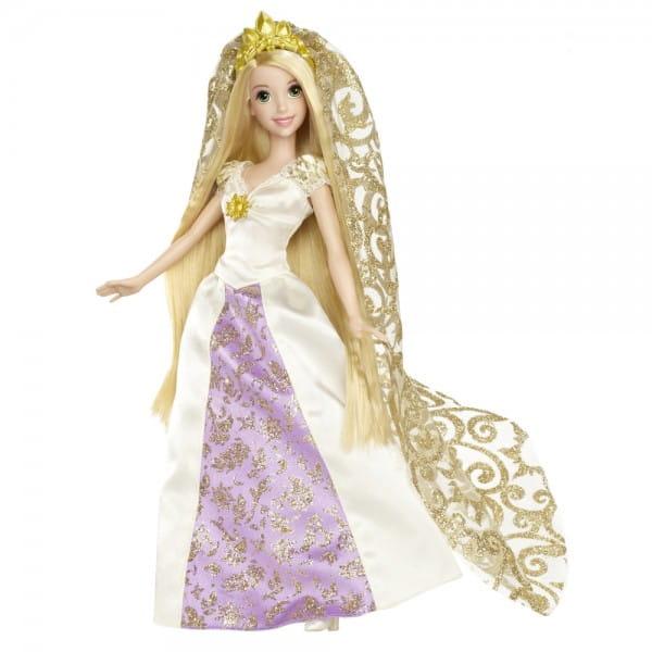 Купить Кукла с аксессуарами Disney Princess Рапунцель в свадебном платье (Mattel) в интернет магазине игрушек и детских товаров