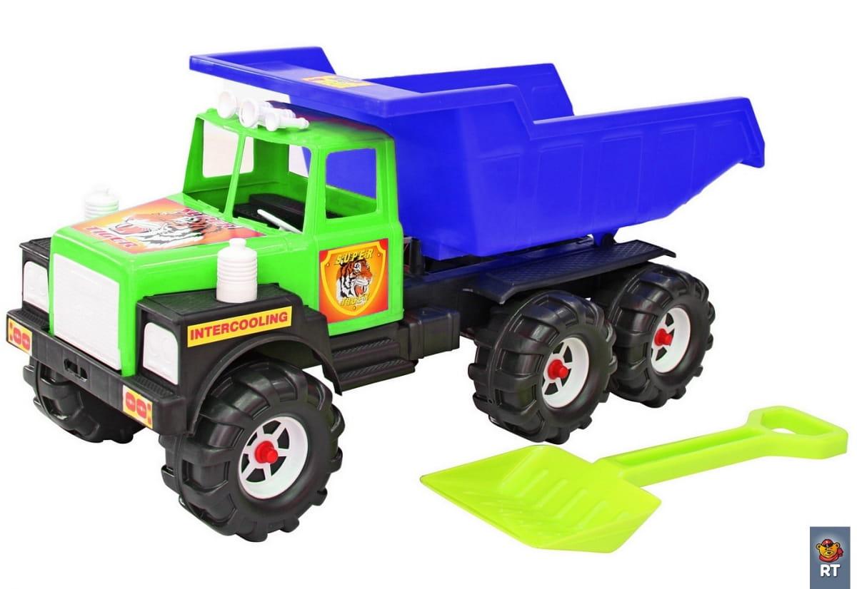Машина RT 5744 МАН - зелено-синяя