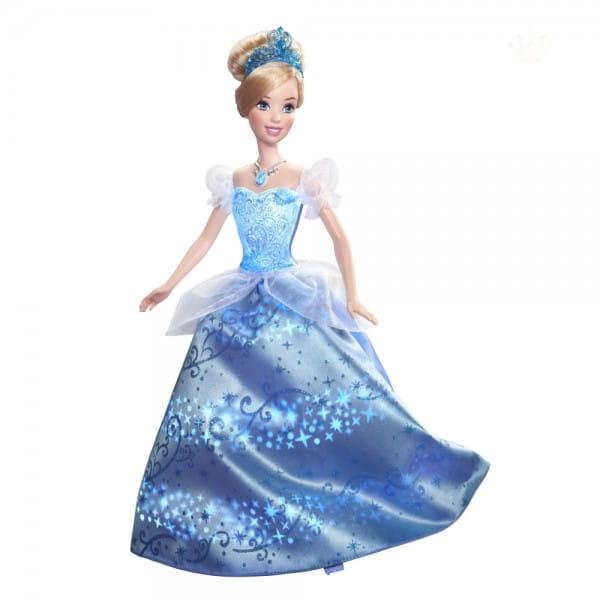 Купить Кукла со световыми и звуковыми эффектами Disney Princess Золушка в сияющем платье (Mattel) в интернет магазине игрушек и детских товаров