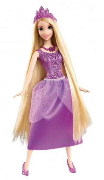 Купить Кукла Disney Princess Рапунцель в сверкающем наряде в интернет магазине игрушек и детских товаров