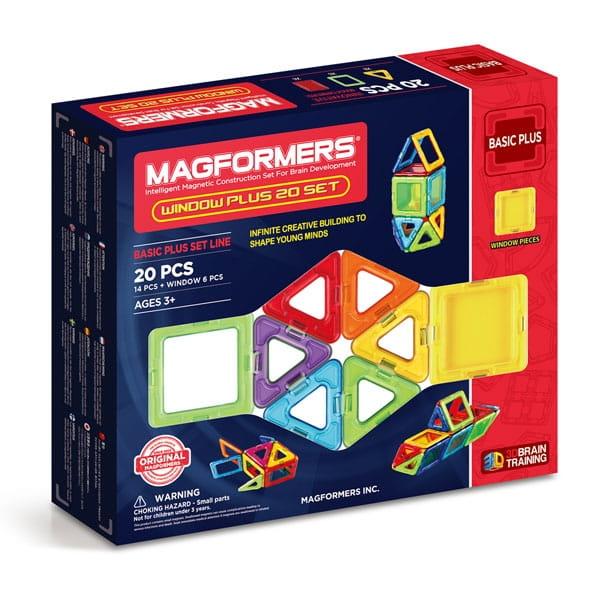 Магнитный конструктор Magformers 715001 Window Plus Set (20 деталей)