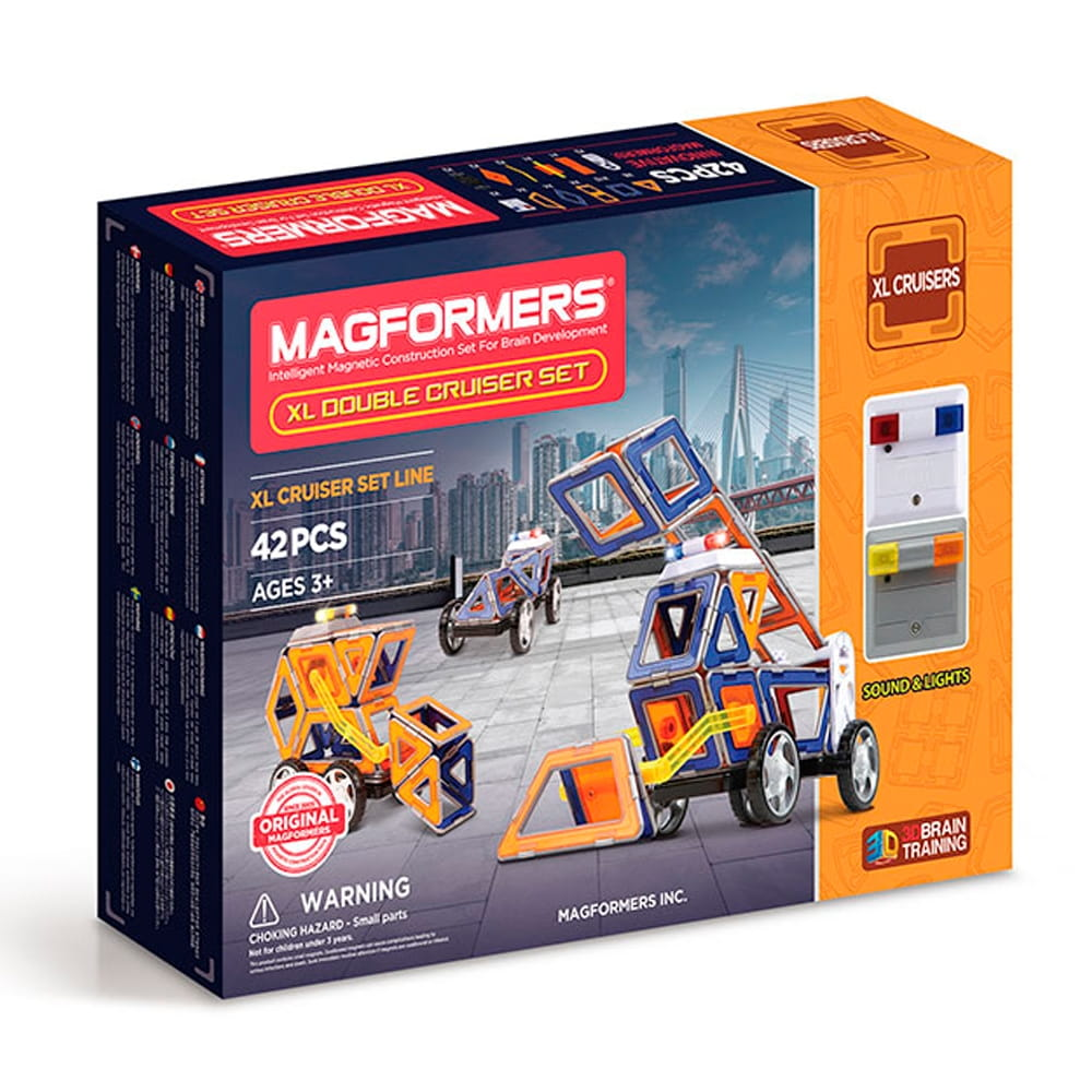 Магнитный конструктор MAGFORMERS XL Double Cruiser Set (42 детали) - Конструкторы Magformers