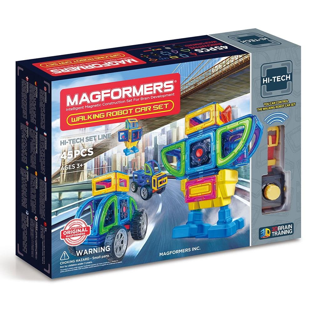 Магнитный конструктор Magformers 709008 Walking Robot Car Set (45 деталей)