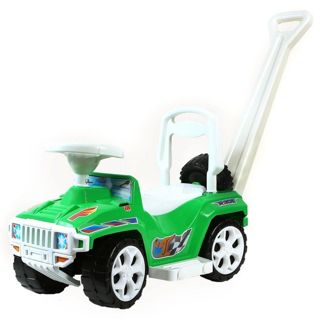 Каталка RT Race mini Formula-1 - зеленая (с родительской ручкой)