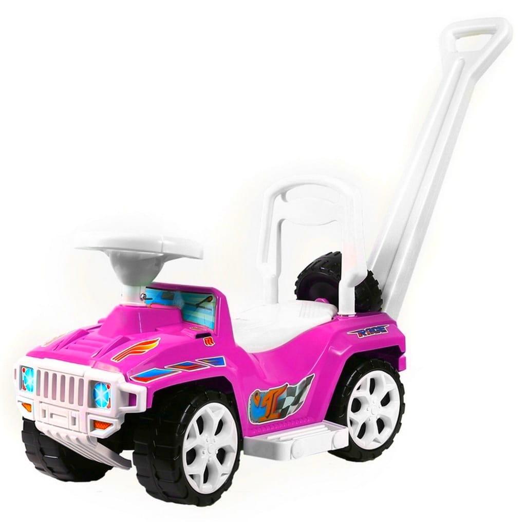 Каталка RT Race mini Formula-1 - розовая (с родительской ручкой)