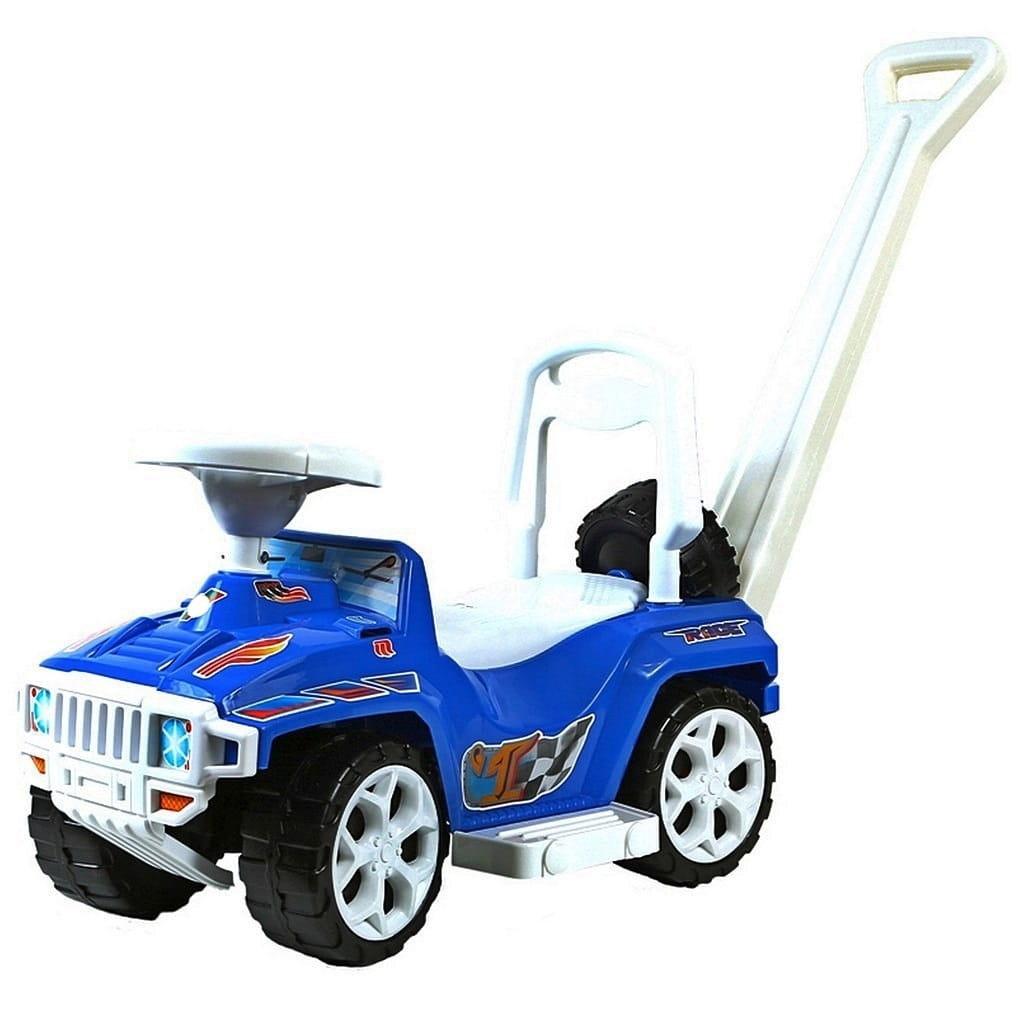 Каталка RT Race mini Formula-1 - синяя (с родительской ручкой)
