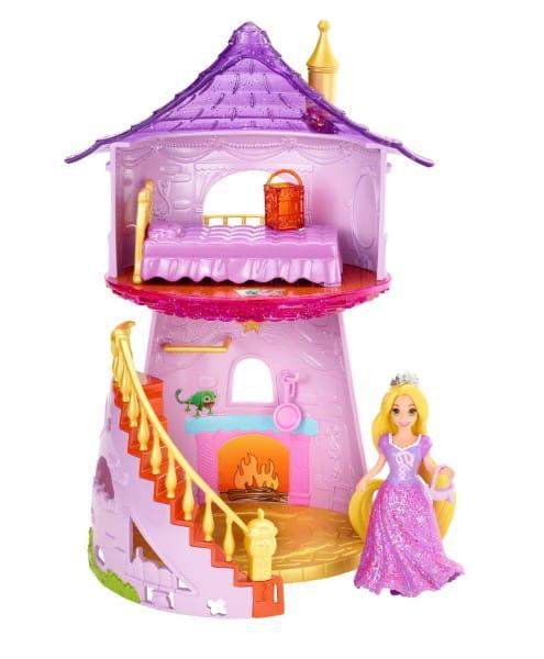 Купить Игровой набор с мини-куклой Disney Princess Замок принцессы Рапунцель (Mattel) в интернет магазине игрушек и детских товаров