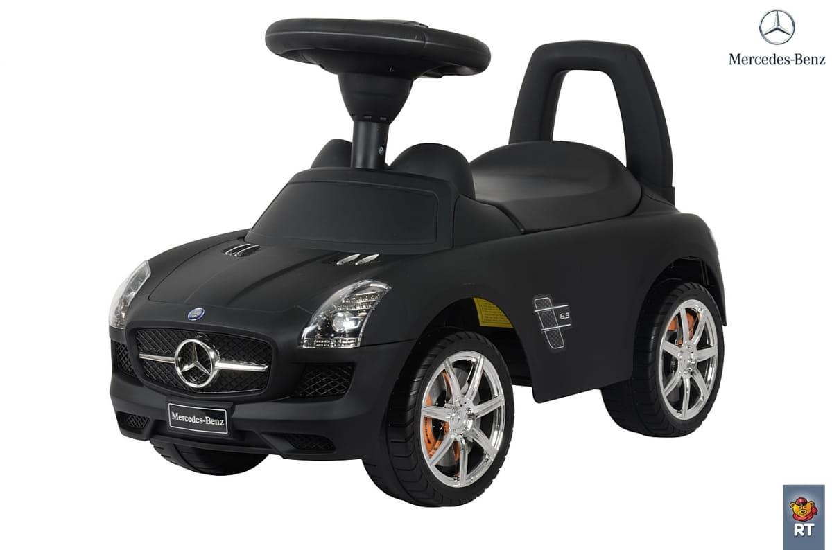Каталка-автомобиль RT Mercedes-Benz - черная матовая