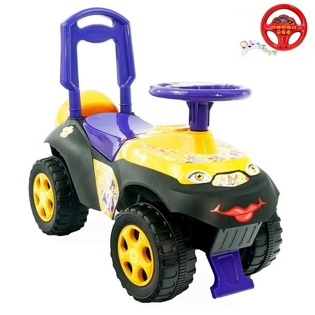 Каталка-толокар RT 5562 Автошка Цветочная фея - фиолетово-желтая