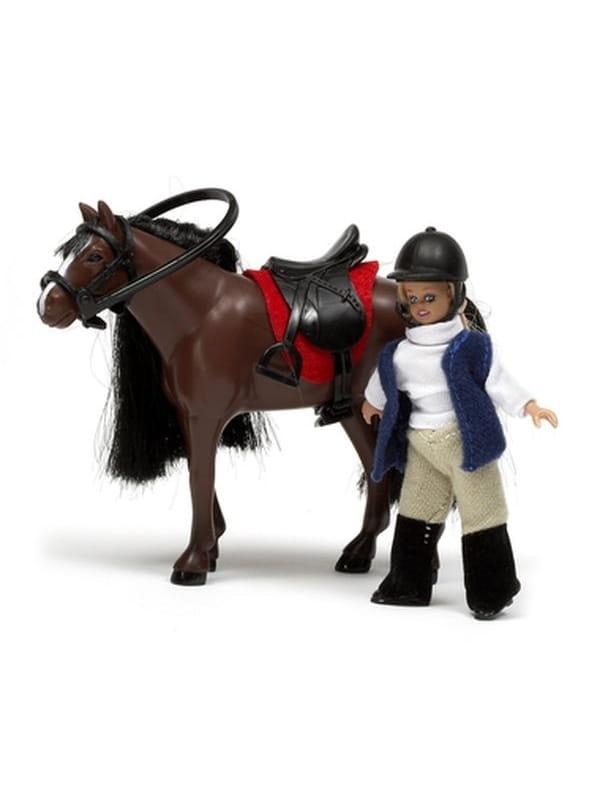 Набор кукол для домика Lundby Девочка и лошадь