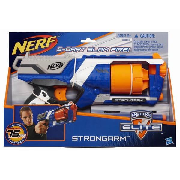 Купить Бластер Nerf Elite Strongarm Элит Стронгарм (Hasbro) в интернет магазине игрушек и детских товаров