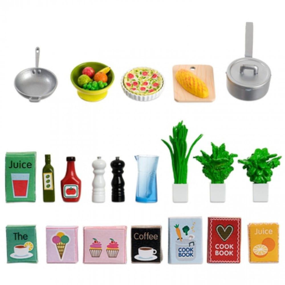 Набор аксессуаров для домика Lundby LB_60508900 Кухонная посуда (21 предмет)