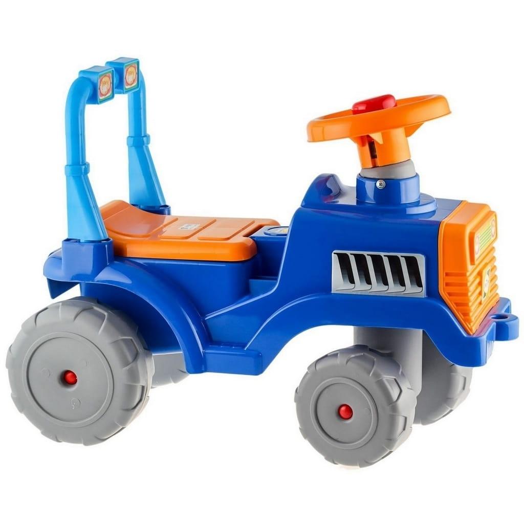 Каталка RT 5618 Трактор - сине-оранжевая
