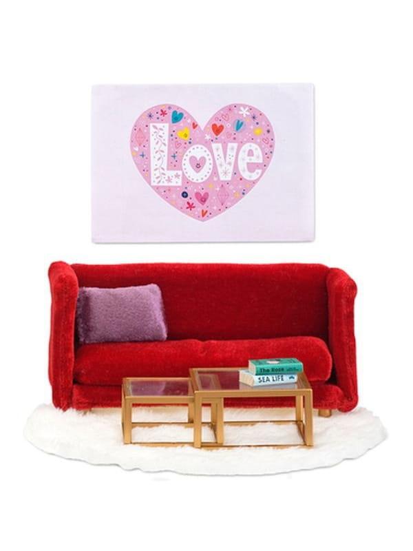 Набор мебели для домика Lundby LB_60208100 Смоланд Гостиная в красных тонах