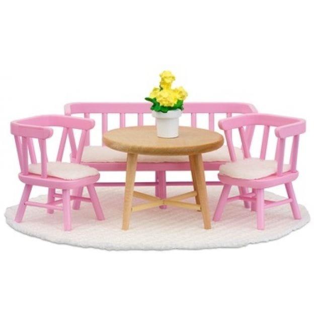 Набор мебели для домика Lundby LB_60207900 Смоланд Обеденный уголок розовый