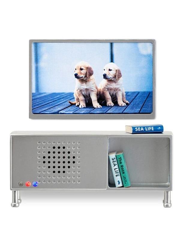 Набор мебели для домика Lundby LB_60904000 Музыкальный центр и телевизор (серый)