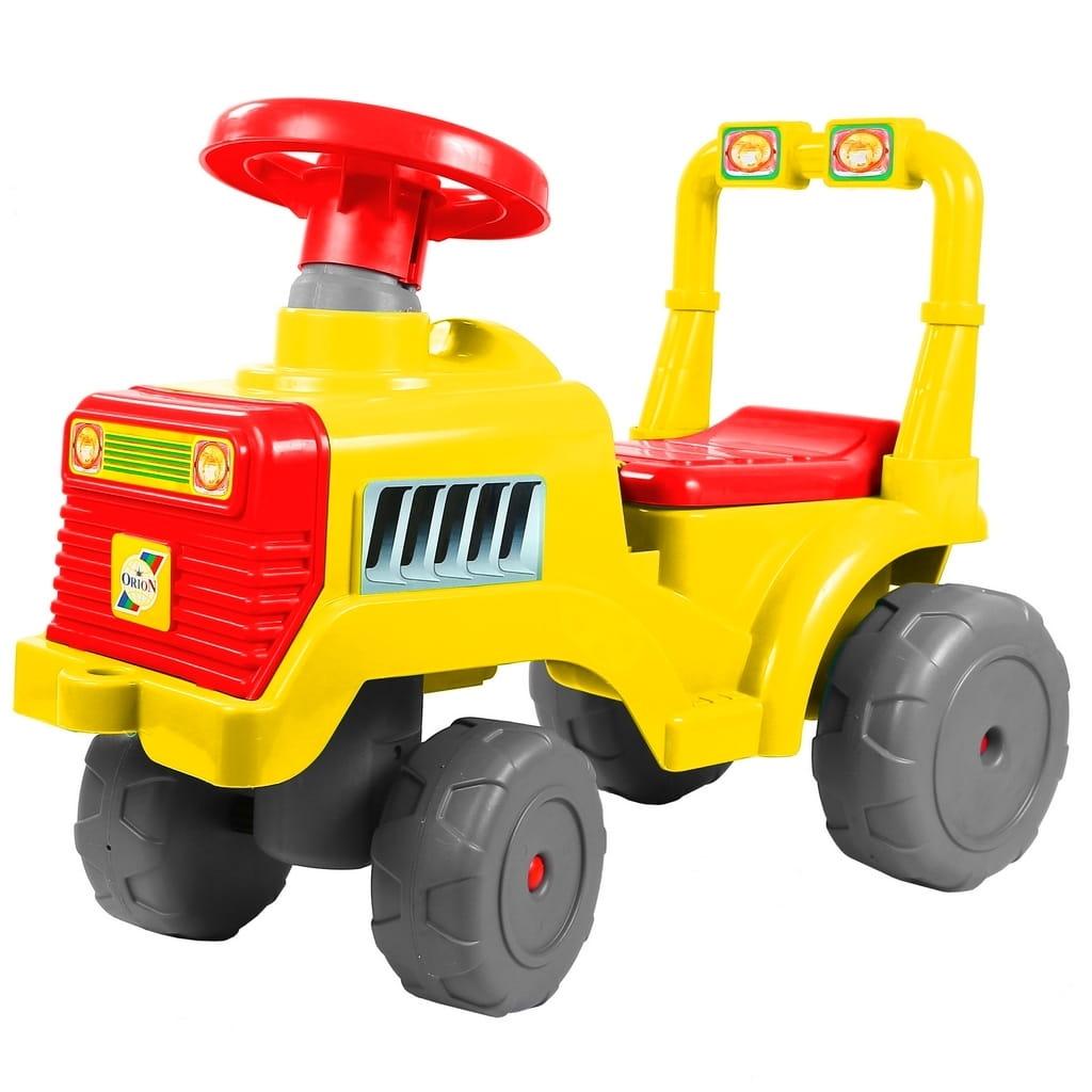 Каталка RT 6530 Трактор - желто-красная