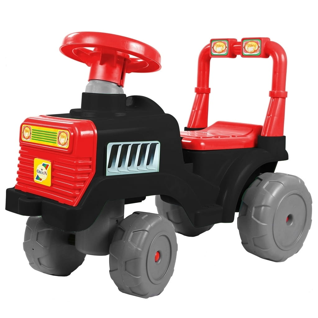 Каталка RT 6528 Трактор - черно-красная
